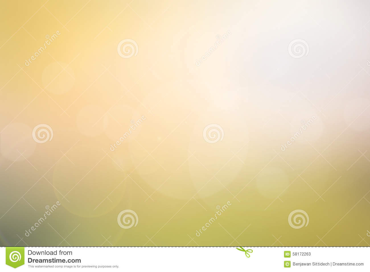 abstract light yellowgreen blurred background stock image