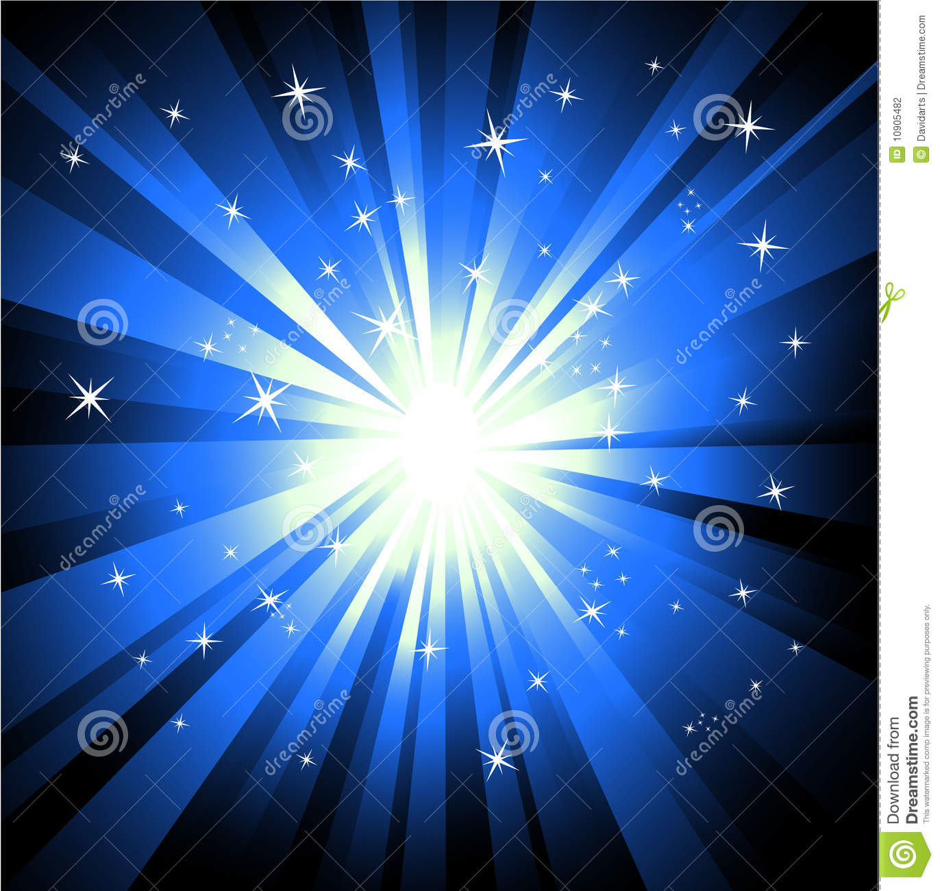 Abstract Lights Explosion Background Stock Vector