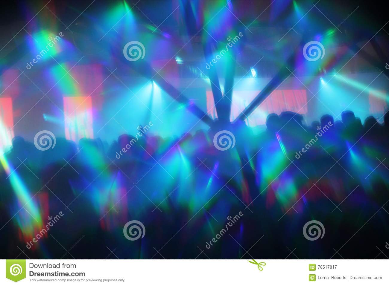 Abstract Lights Nightclub Dance Party Background
