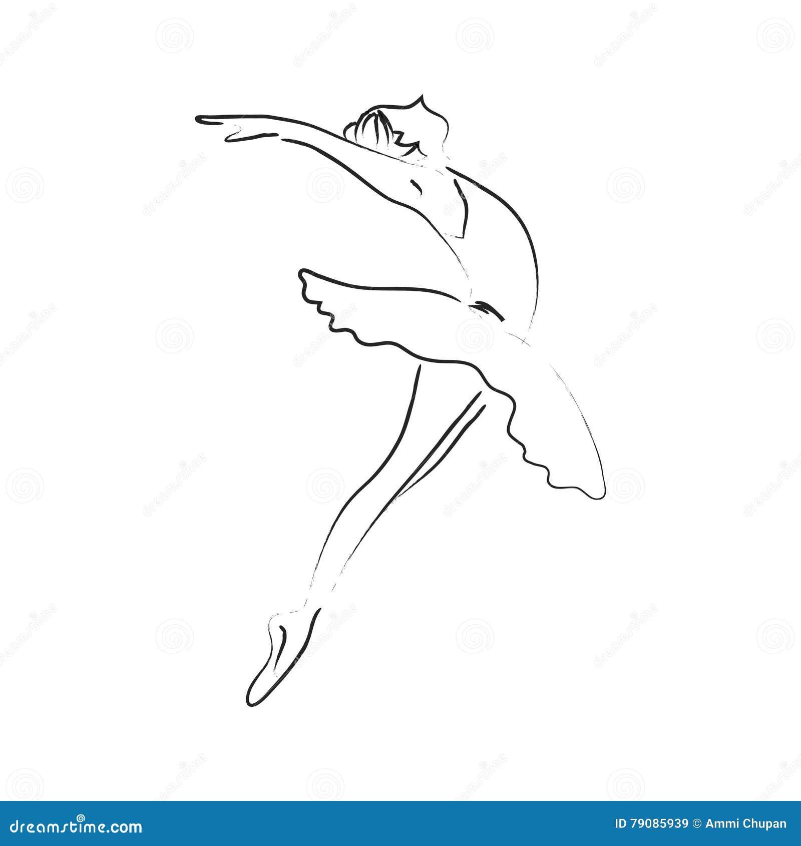 Dream Dance By Line Art Inc : Abstract ballerina stock photo cartoondealer