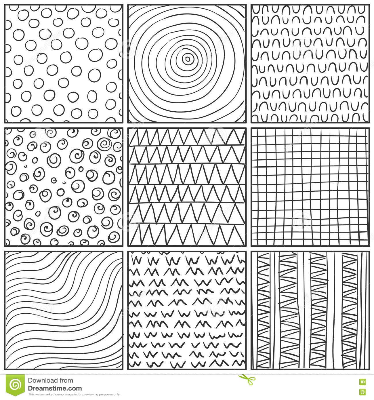 Abstract Line Art Design : Abstract line drawing design elements stock illustration