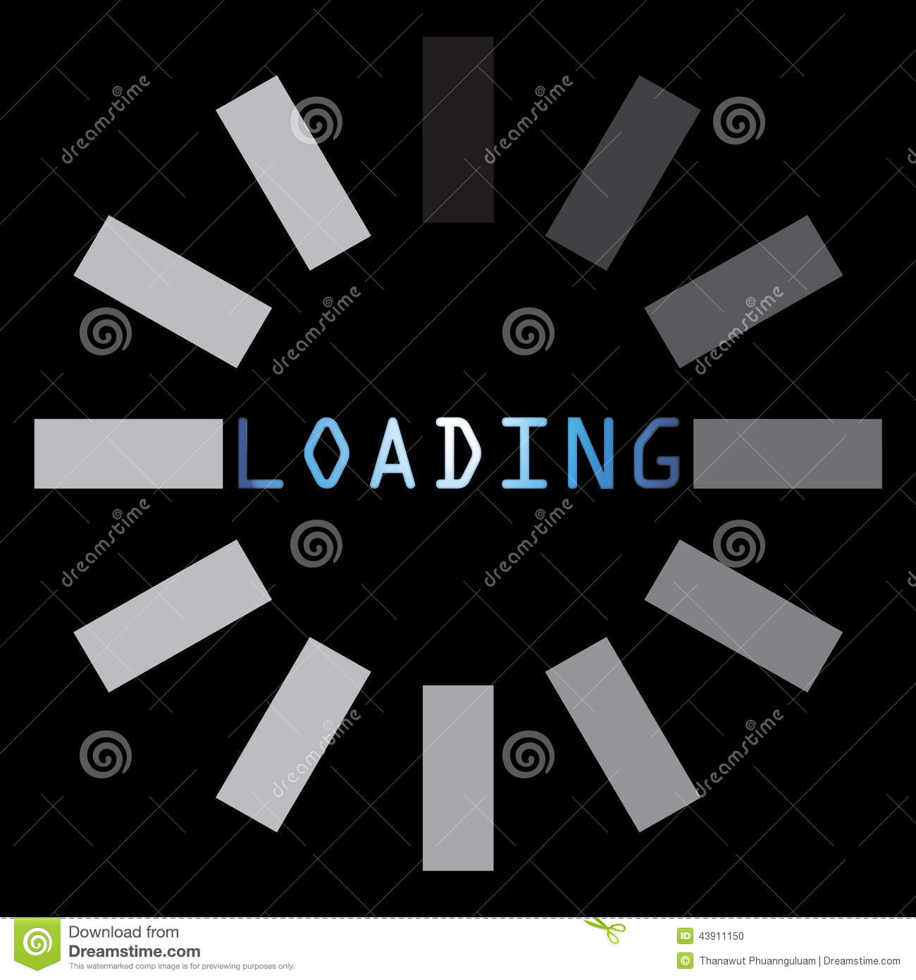 Abstract loading symbol on black background stock illustration abstract loading symbol on black background biocorpaavc Image collections