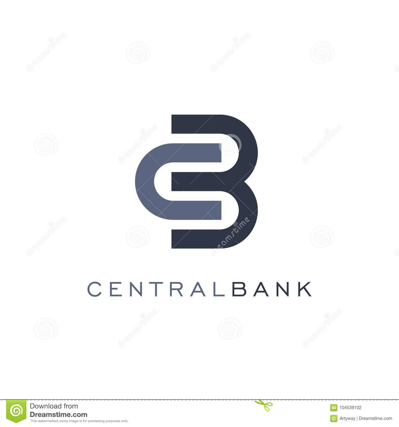 Abstract lock icon, linear style, bank vector logo template. Currency exchange and finance operations