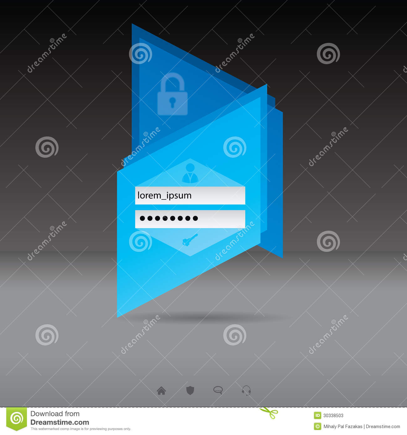 Login website screen stock images image 27209274 - Abstract Login Screen With Blue Padlock Stock Photos