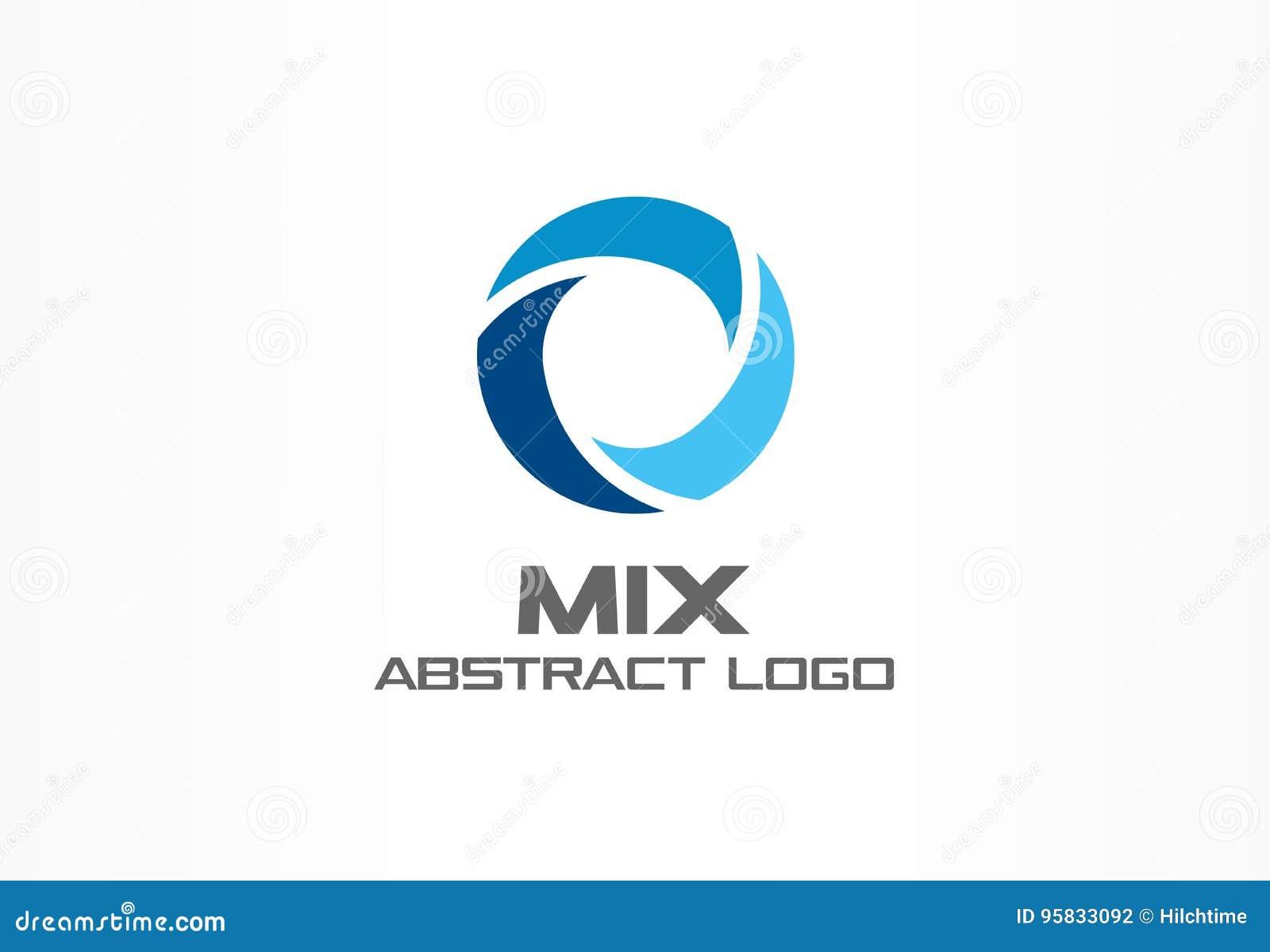 Abstract logo for business company. Corporate identity design element. Globe, teamwork, healthcare, aqua swirl Logotype