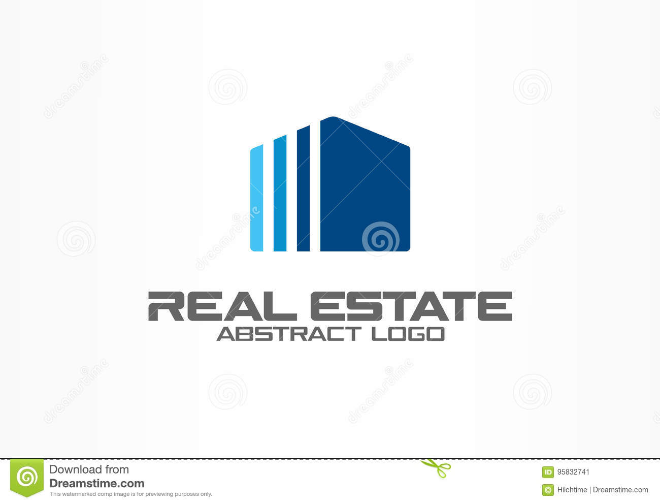 Abstract logo for business company. Corporate identity design element. Real estate service, construction, agent logotype