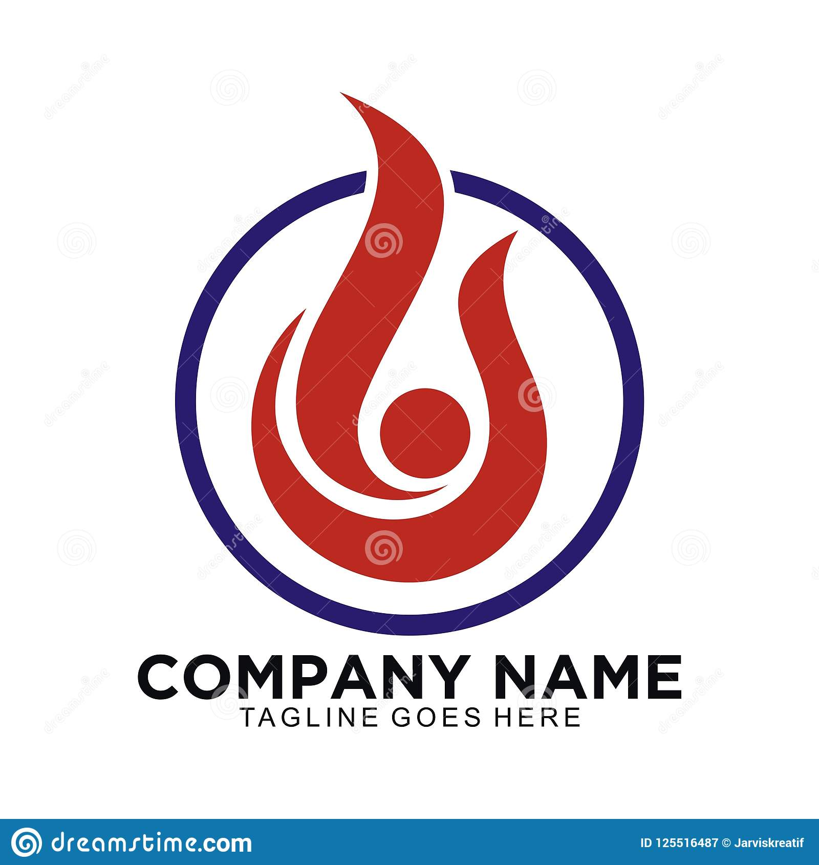 Abstract Logo For Business People Or Celebration With Blue And Red
