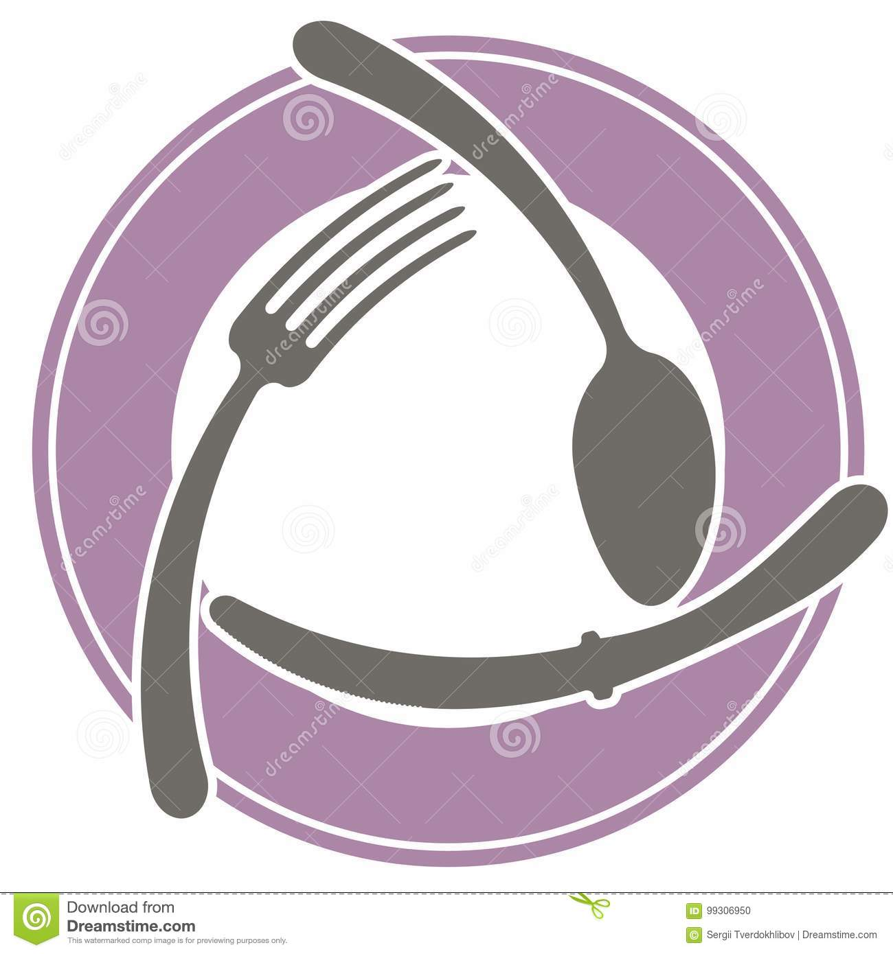 Restaurant Logo Fork Cartoon Vector Cartoondealer Com