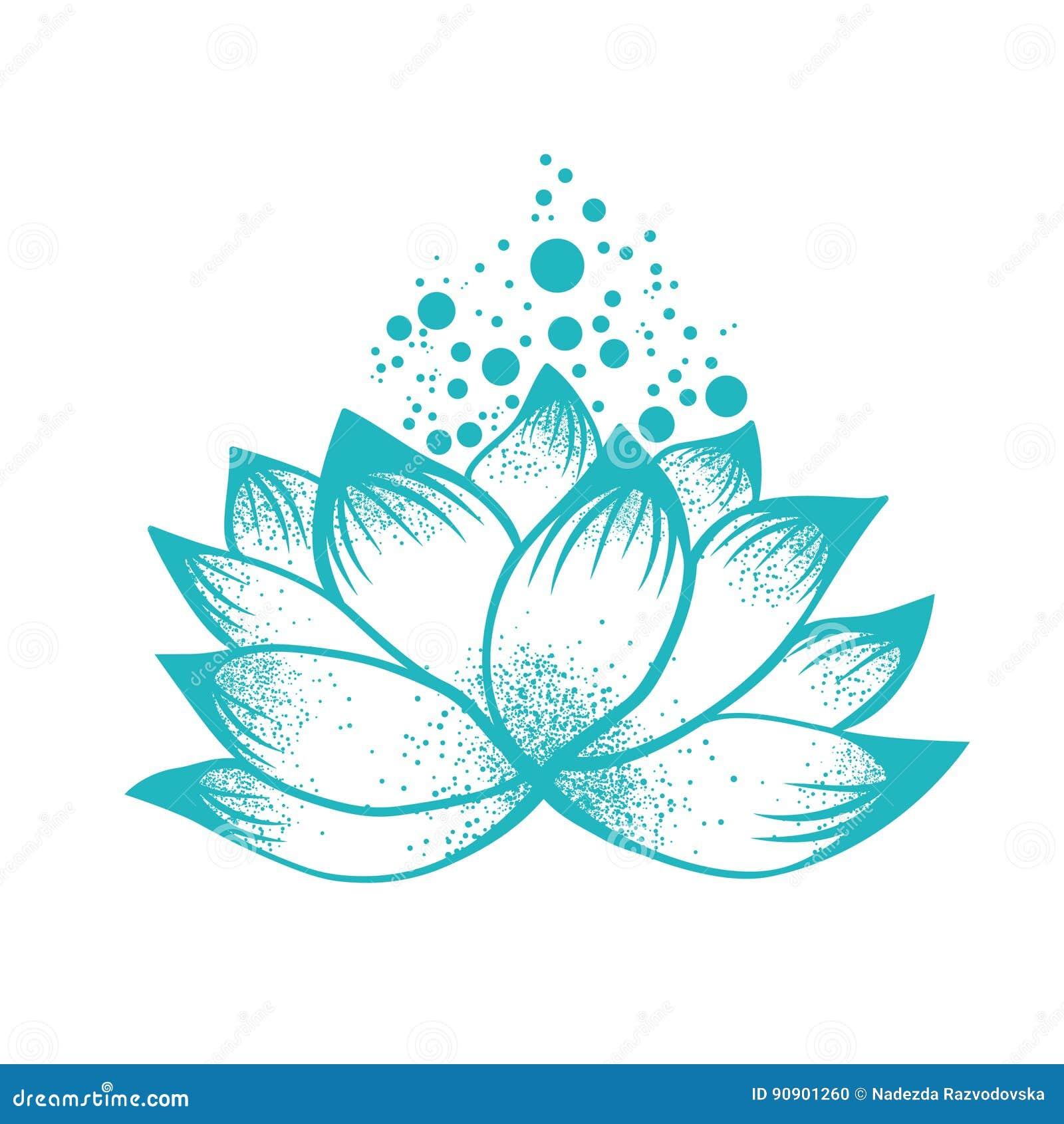 Abstract Logo Design Of Lotus Flower Stock Vector Illustration Of