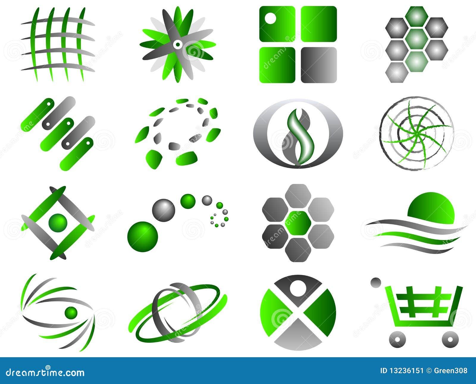 abstract logo icon design set stock vector