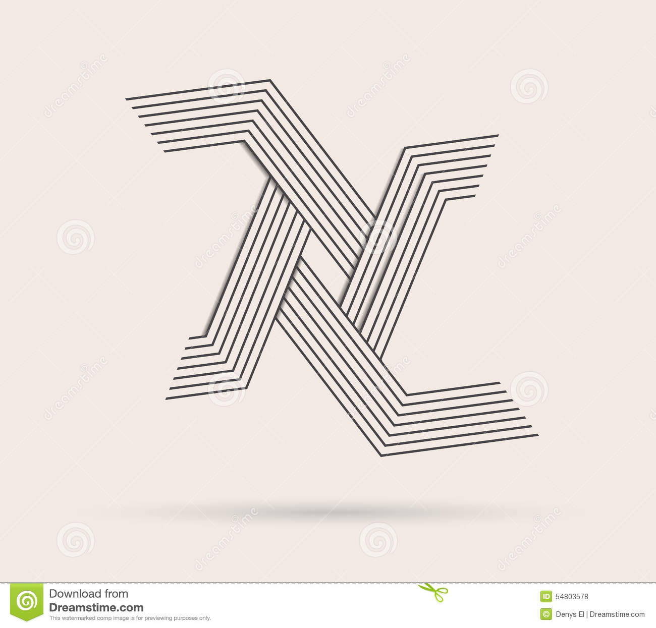 abstract logo made with lines  stock illustration
