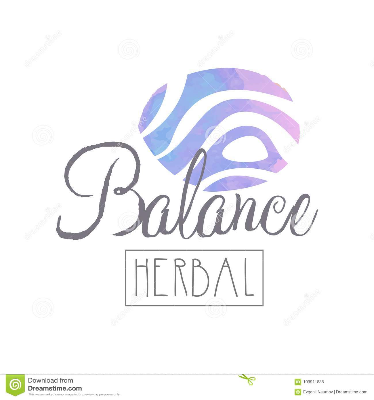 abstract logo for self development center or yoga class wellness