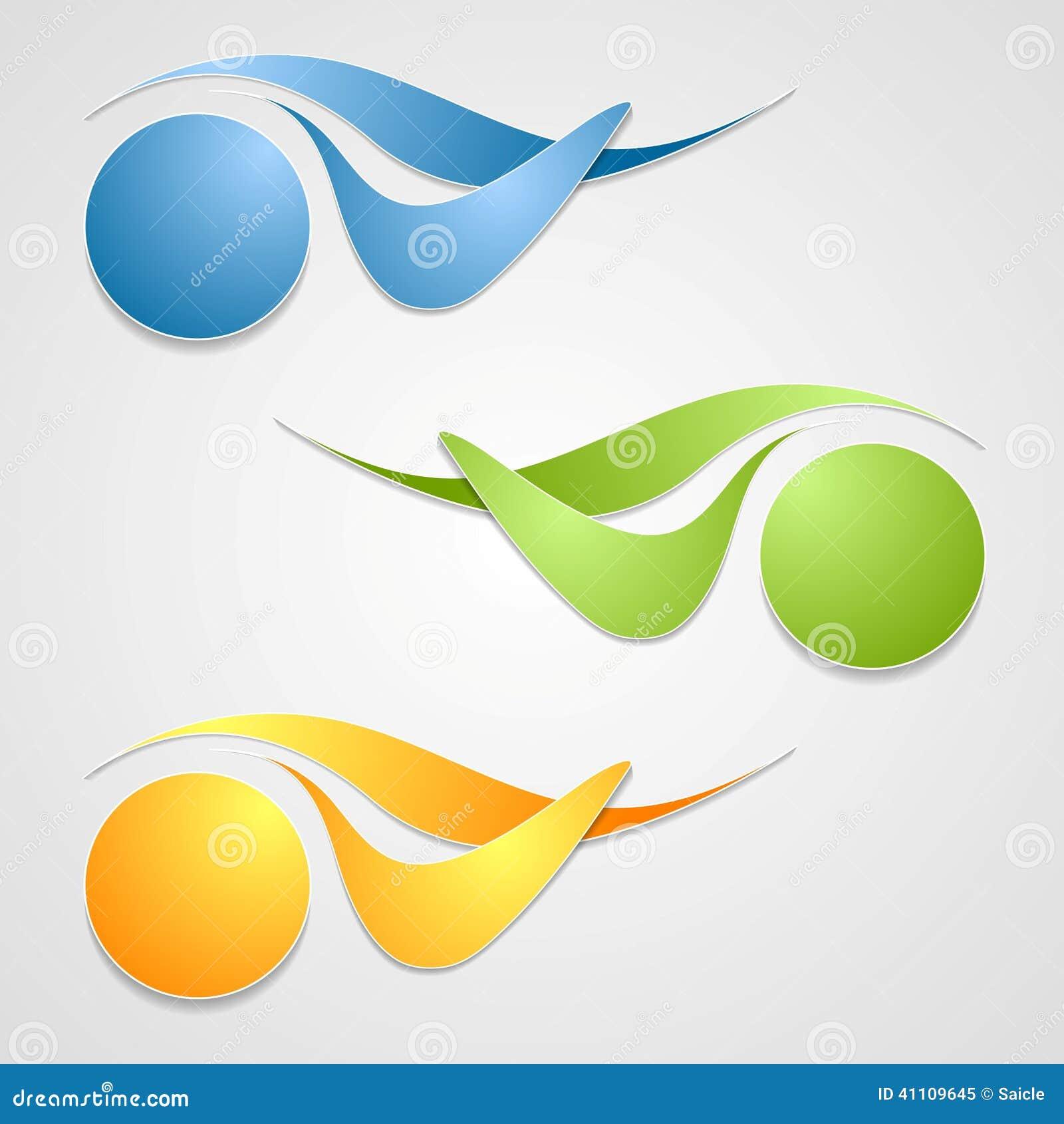 abstract logo shapes template design stock vector image 41109645. Black Bedroom Furniture Sets. Home Design Ideas