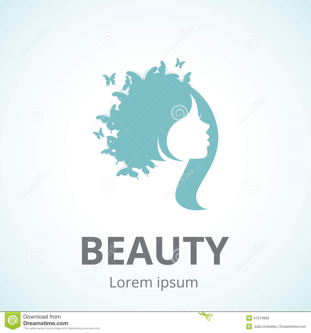 Abstract Logo Woman's Face In Profile Stock Vector - Image ...