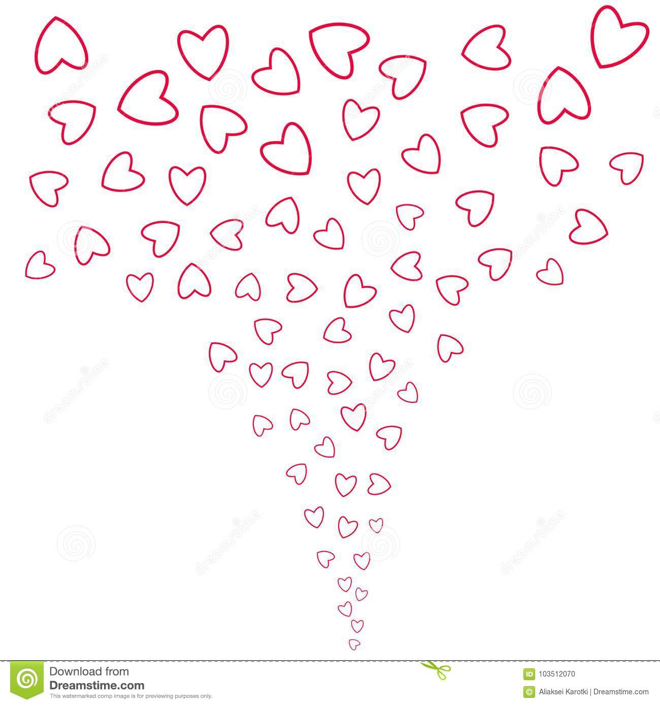 Abstract Love Background Of Little Hearts For Invitation