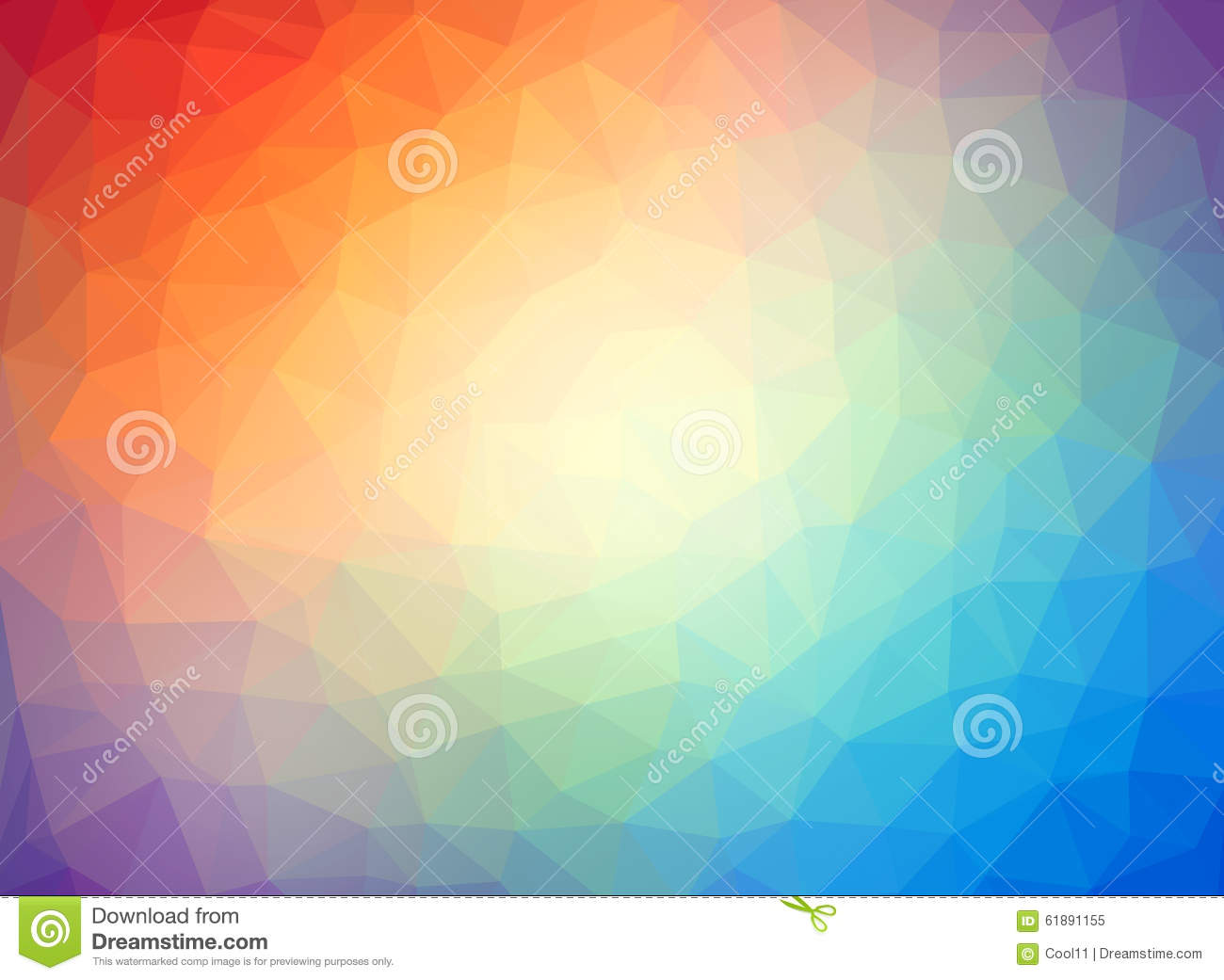 Abstract Low Poly Multicolor Background Stock Illustration ...