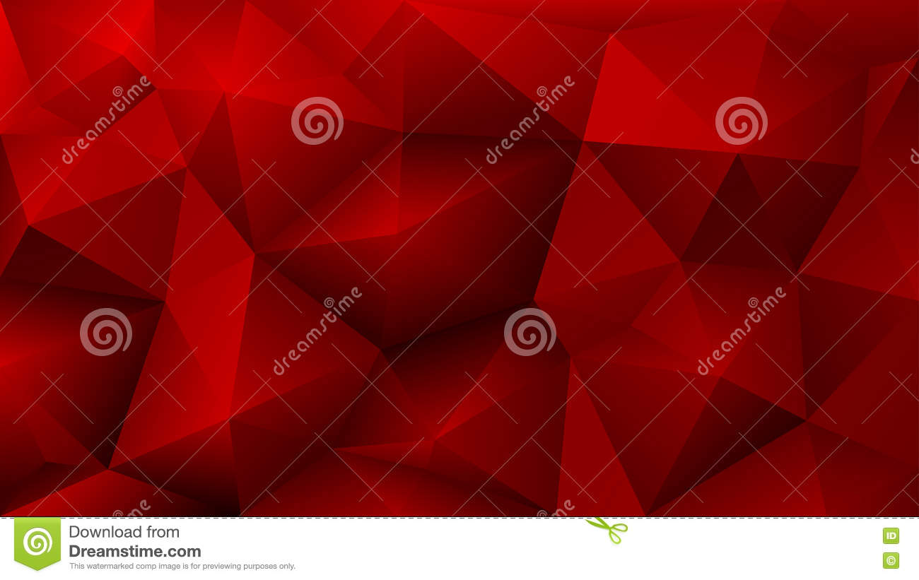 Abstract low poly red background of triangles stock vector - Dreaming about the color red ...