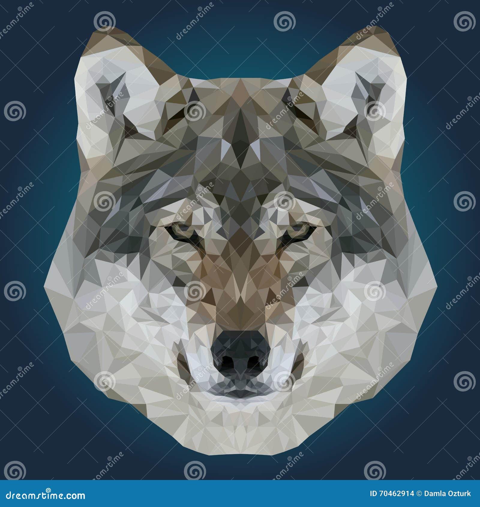 Wolf Low Poly Design Geometric Vector Animal Illustration