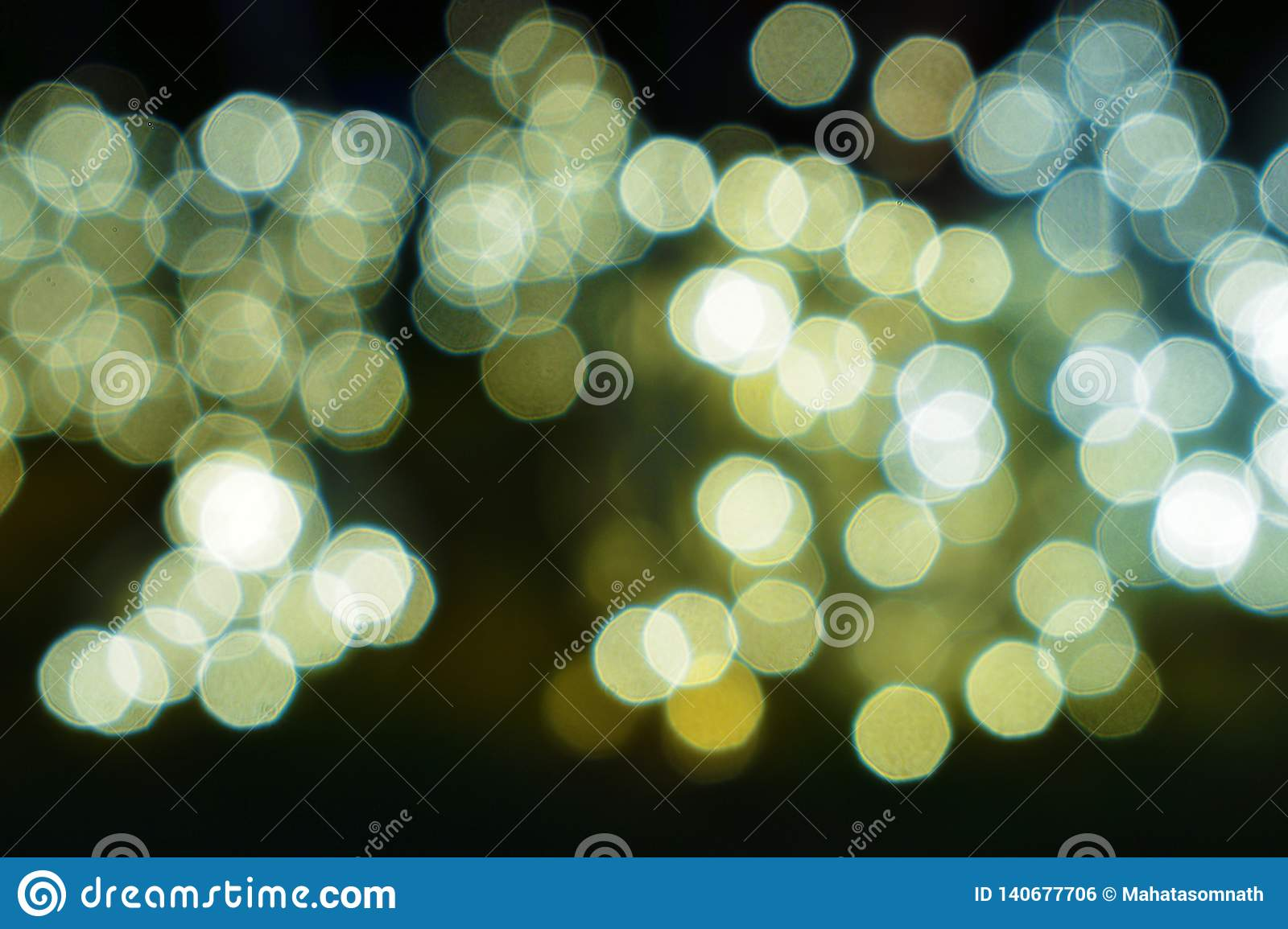 Abstract magic bokeh background with glittering stars and flare