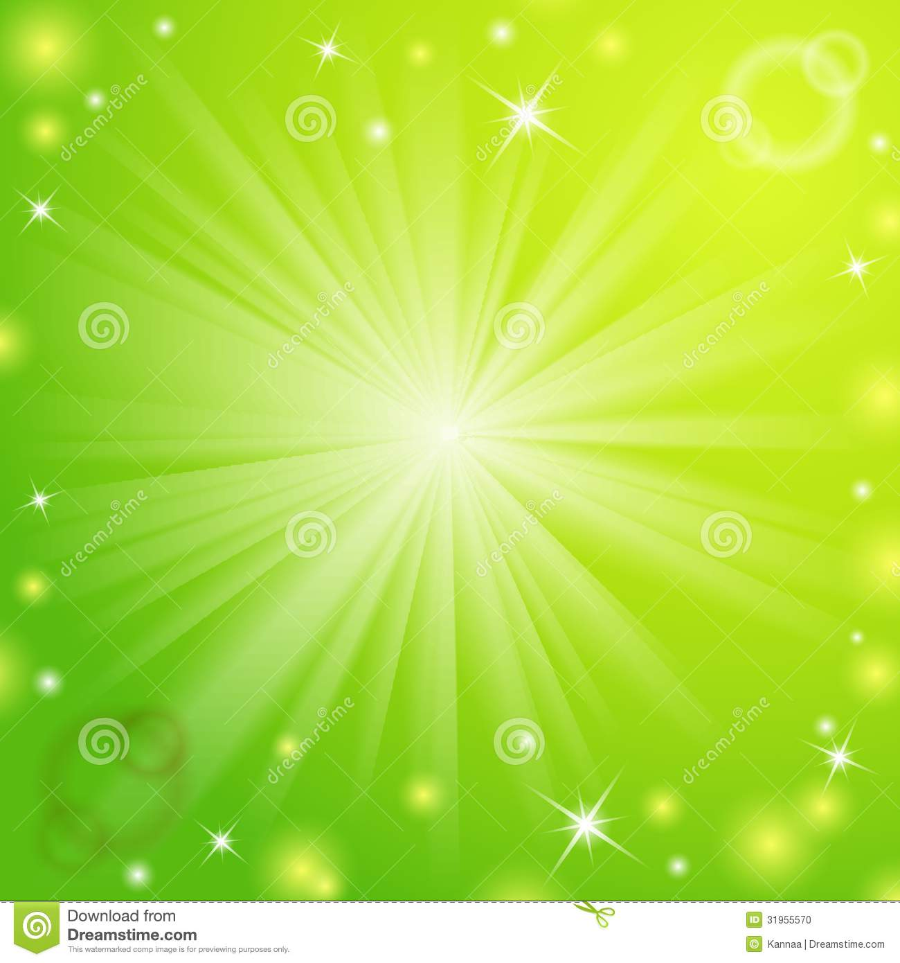 Abstract Magic Light Green Background Stock Vector Illustration