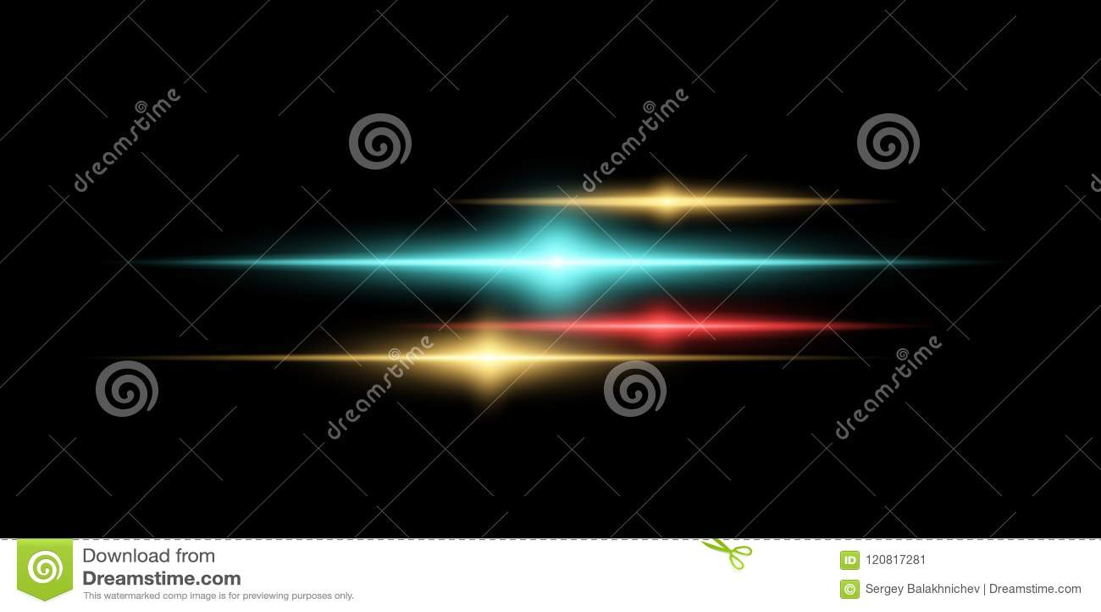 Abstract magisch modieus lichteffect voor een transparante achtergrond Multicolored gloed Vector illustratie