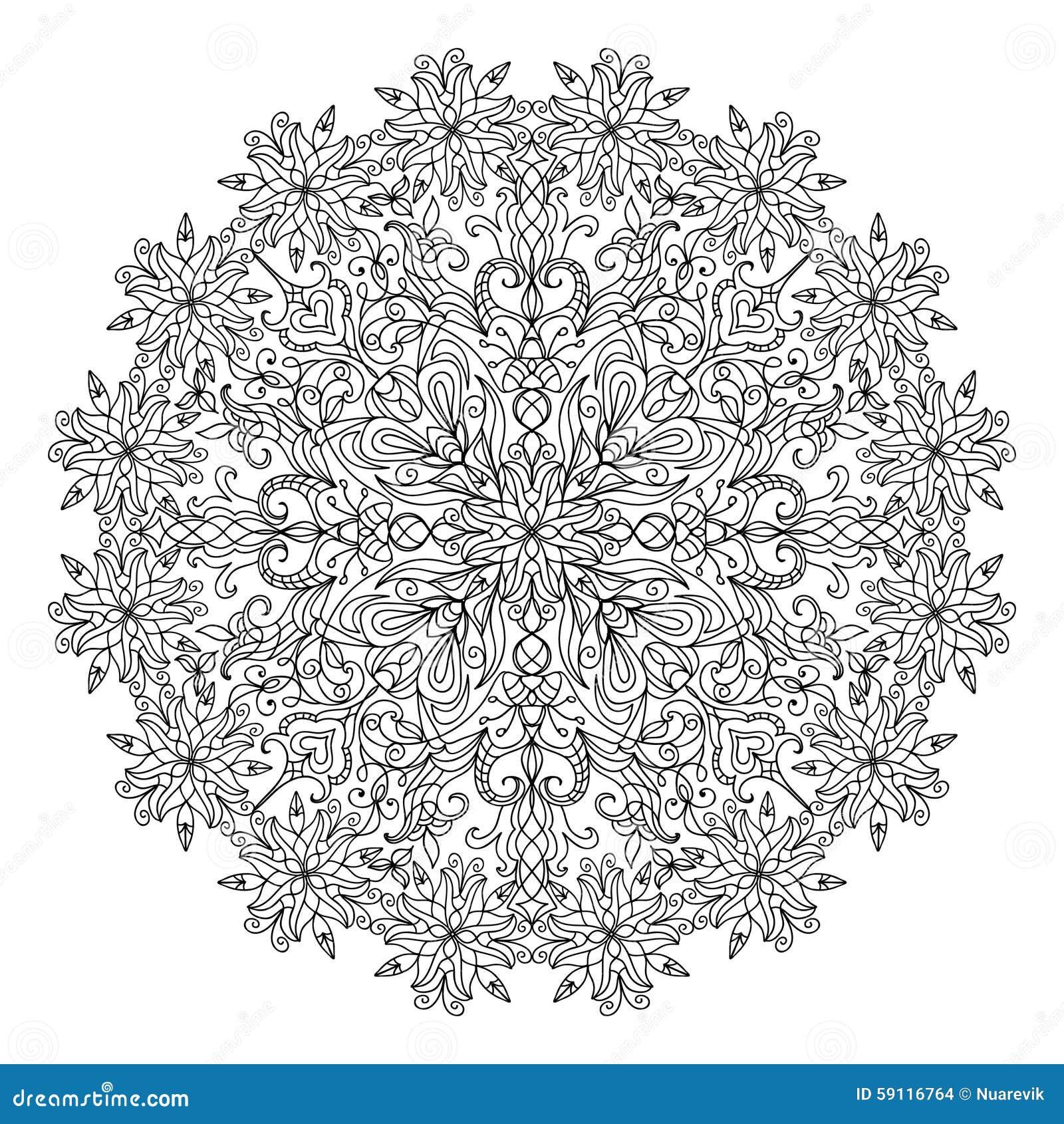 Abstract Mandala Zentangle Stock Illustration Illustration Of