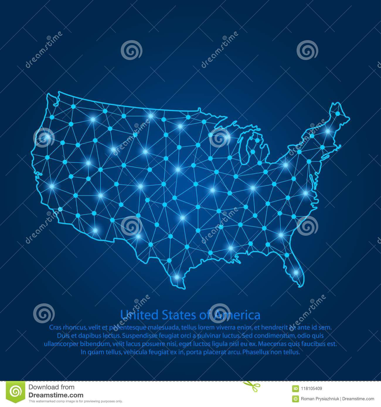 Abstract Map Of The USA Created From Lines, Bright Points ... on fcc line a map, voyage map, flight connections map, open map, robin hood map, professional map, happy map, no man's land map, pittsburgh metro map, earth drawings north america map, world map, the shining map, wireless connection map,