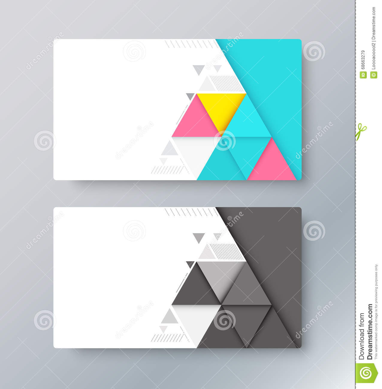 abstract material card background business card design vector