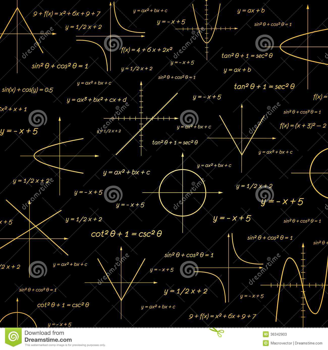 Abstract math vector illustration background.