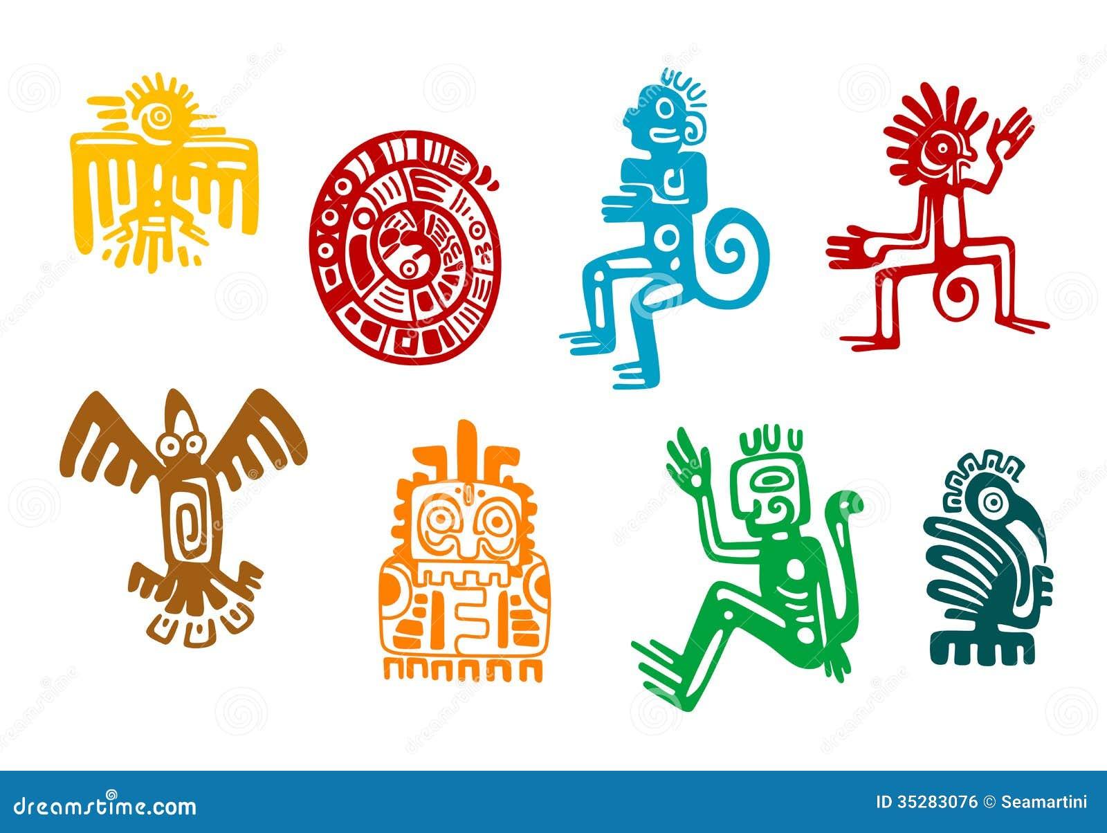Abstract maya and aztec art symbols stock vector illustration of abstract maya and aztec art symbols biocorpaavc Gallery