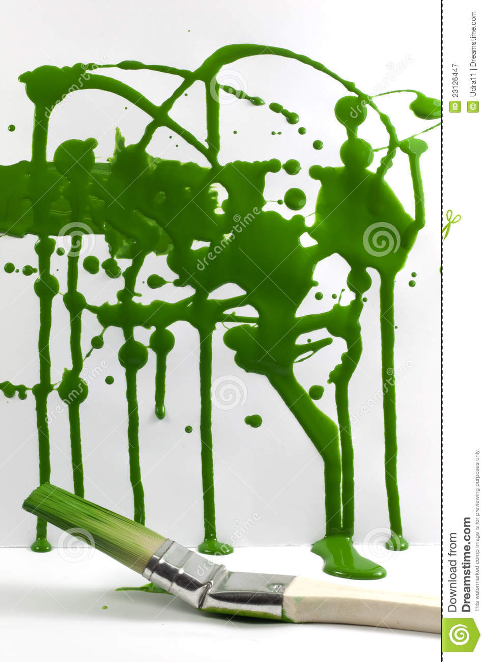 Abstract Messy Painting Green Background Stock Image ...