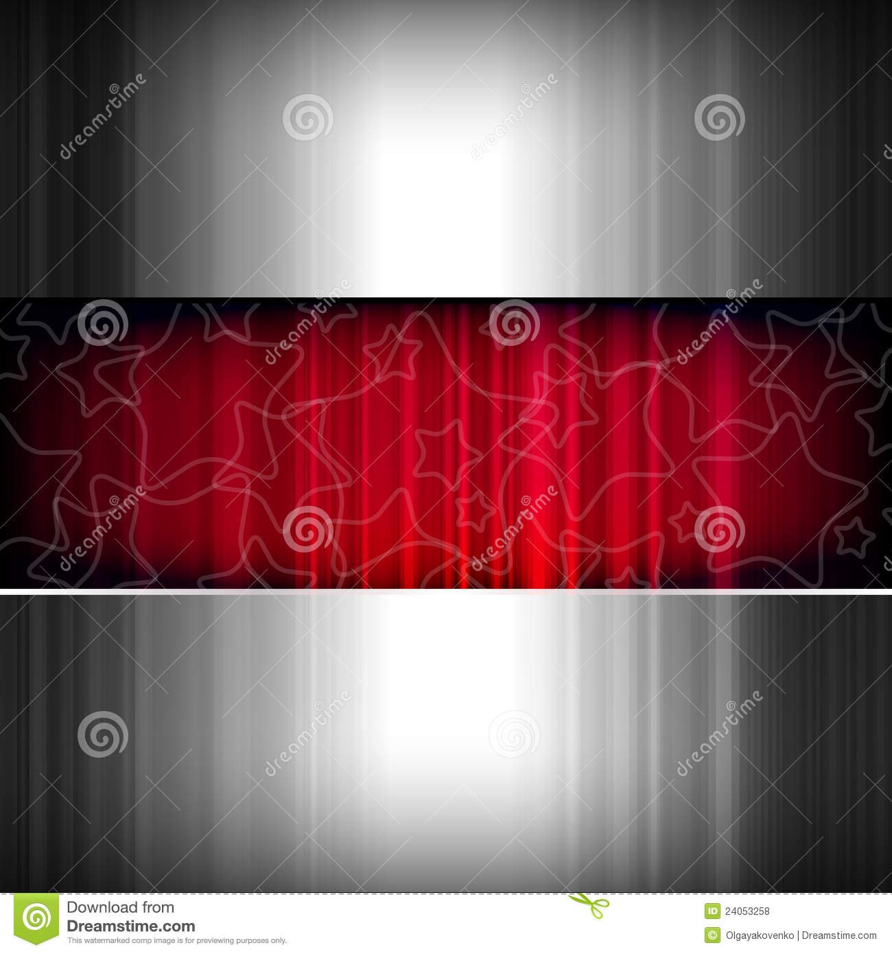 Abstract Metal Stars Background Metallic And Red Stock