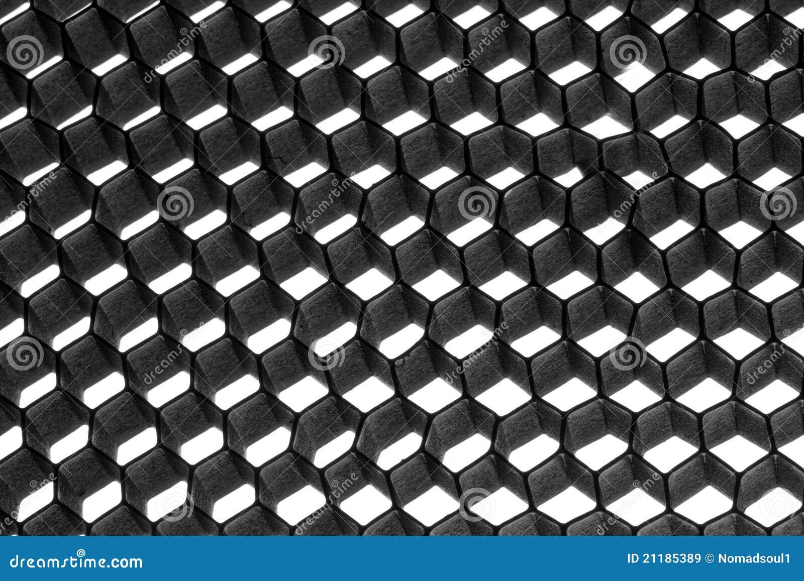Abstract metallic hexagon mesh