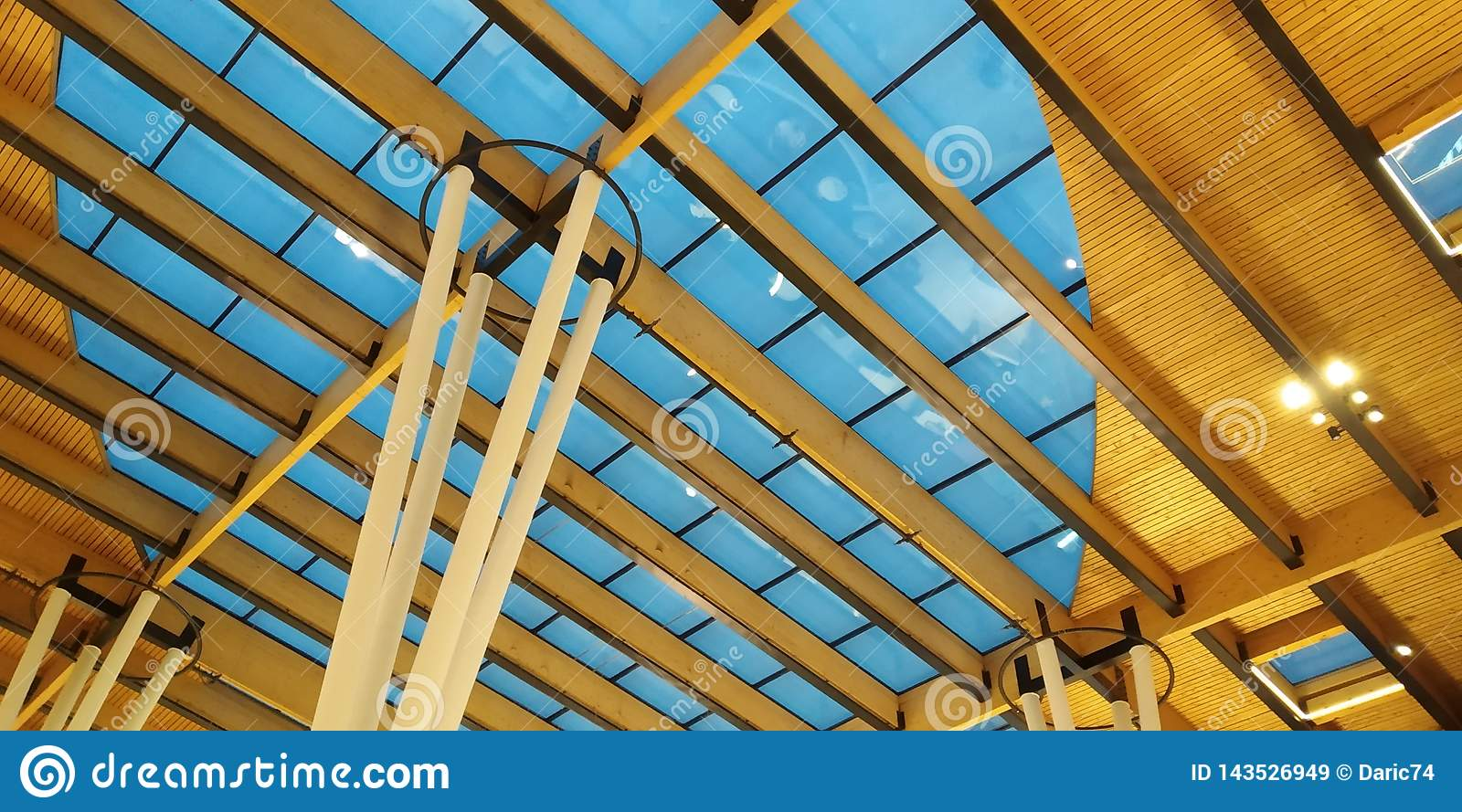 Abstract of modern architecture building interior