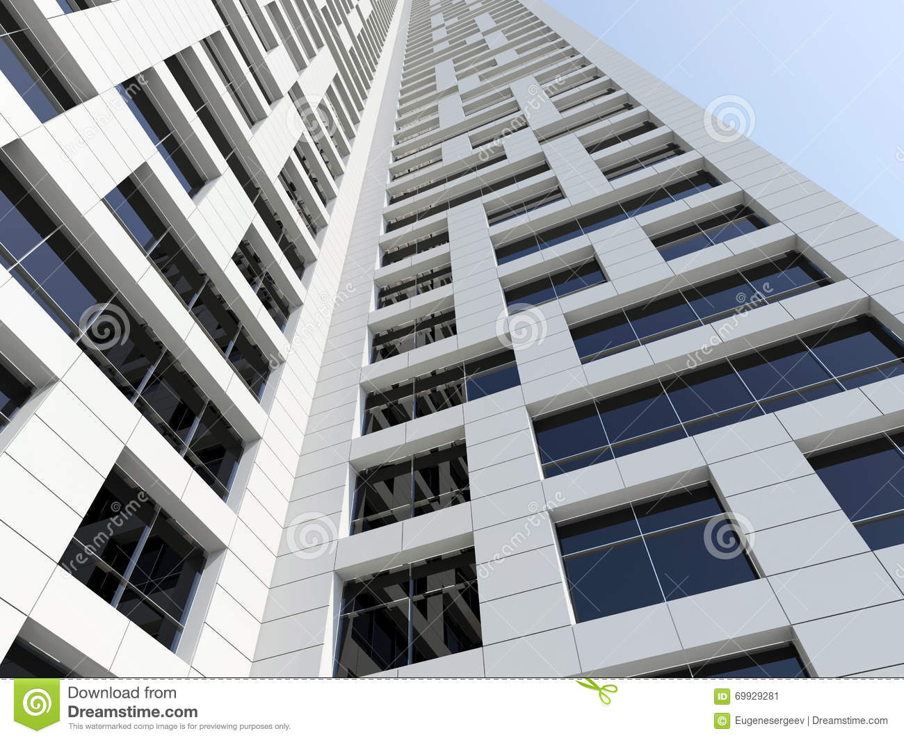 Modern Architecture Perspective abstract modern architecture. perspective 3 d stock illustration