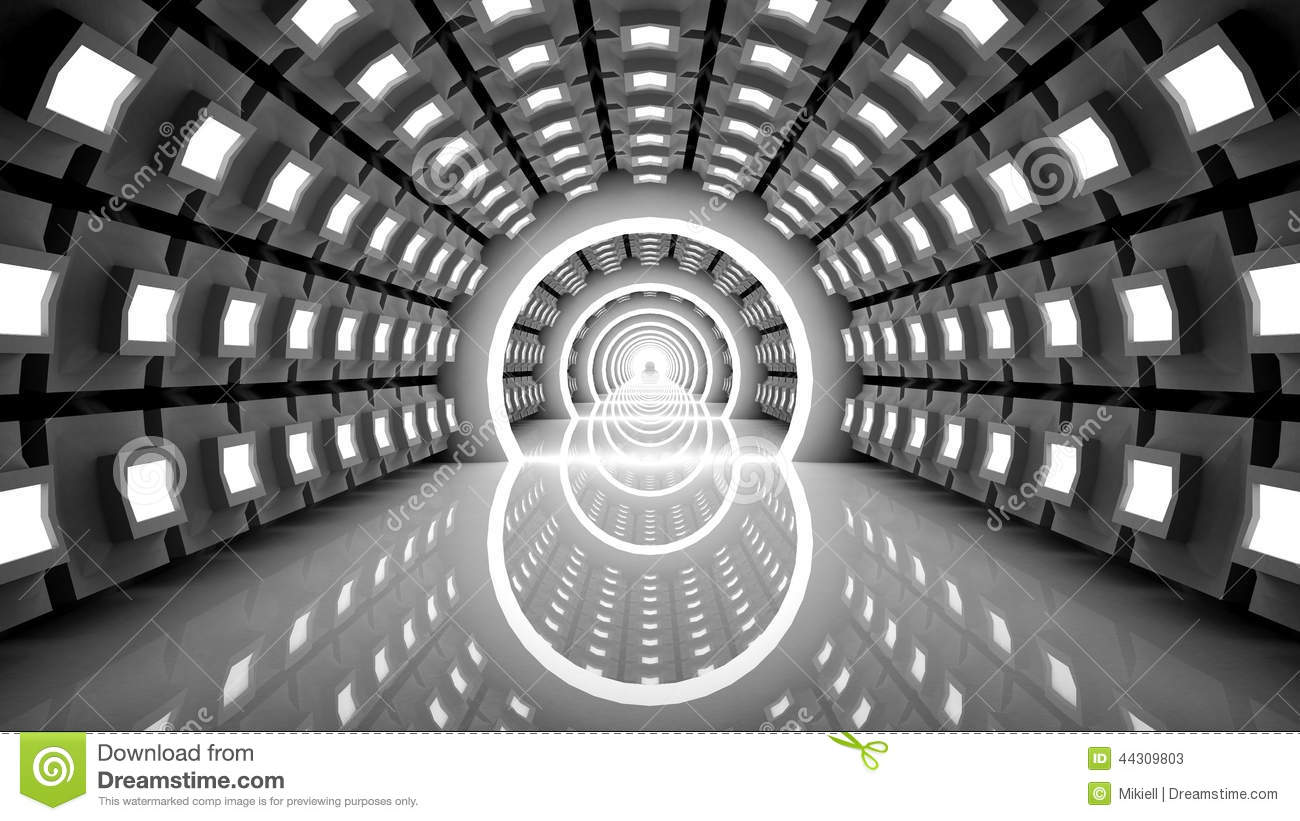 Abstract Modern Background Empty Futuristic Inter Stock