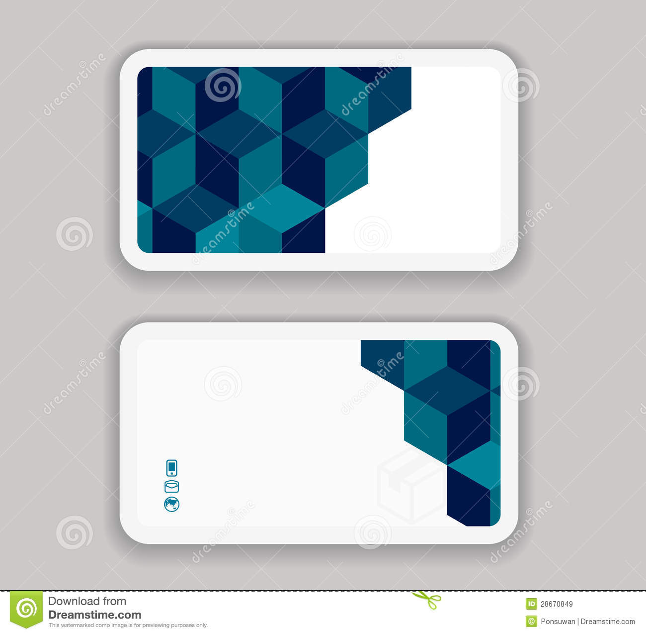 Abstract Modern Business-Card Design Template Royalty Free Stock ...