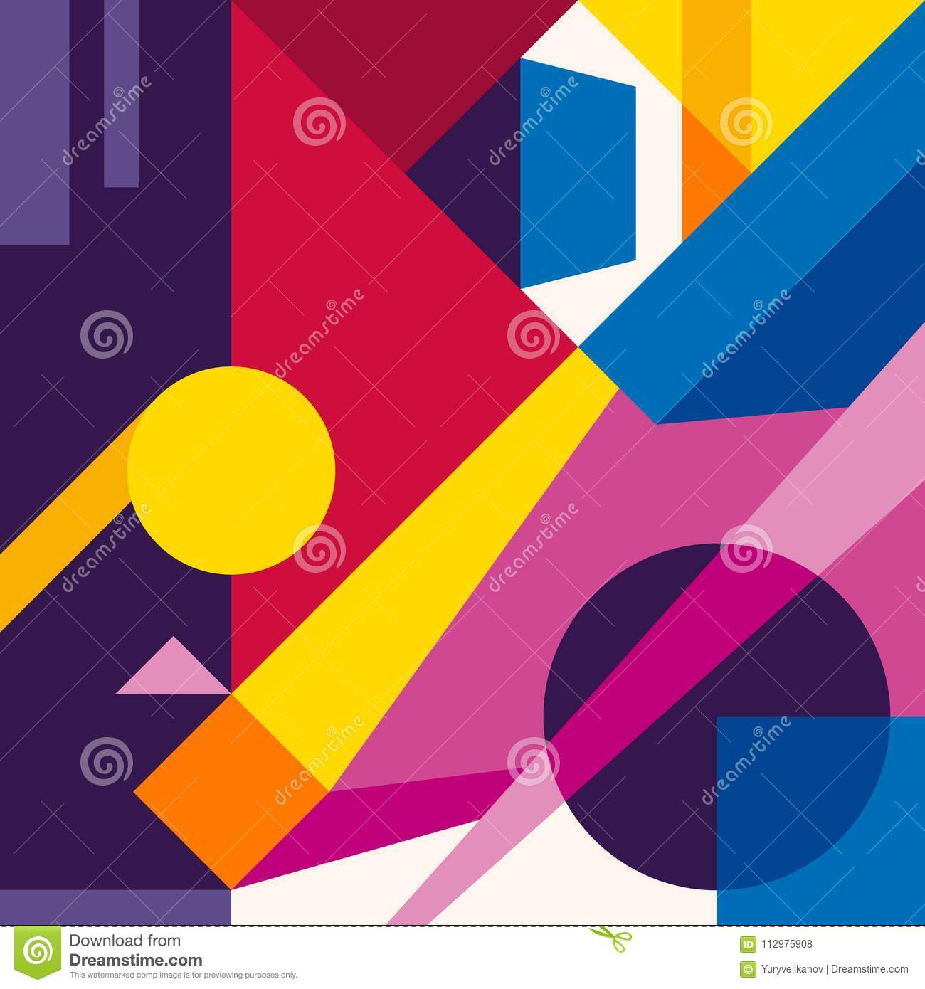 Abstract modern geometric design background. Composition 6