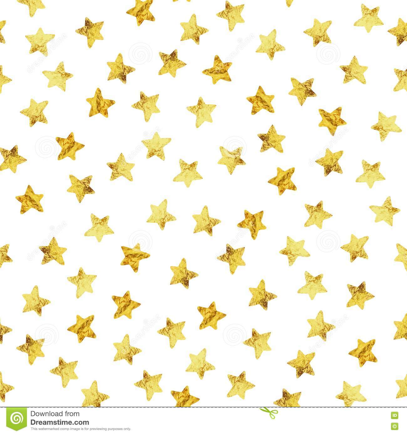 abstract modern pattern with gold foil stars vector