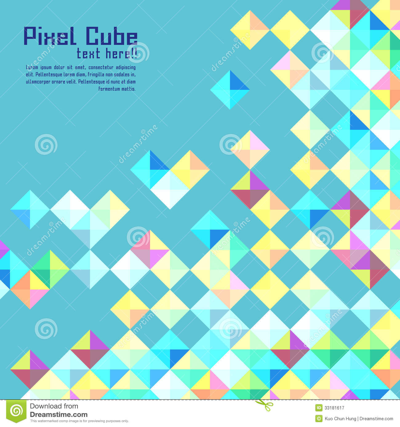 abstract modern pixel background royalty free stock