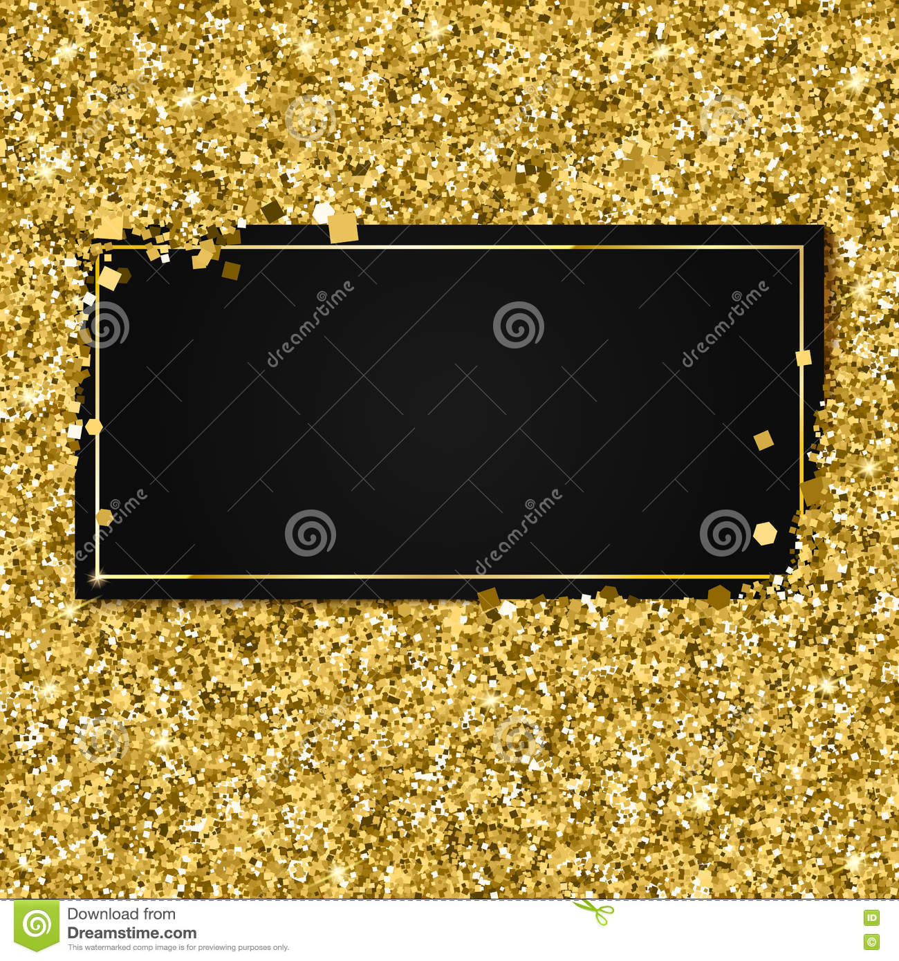 abstract modern vector gold banner templates shiny luxury black