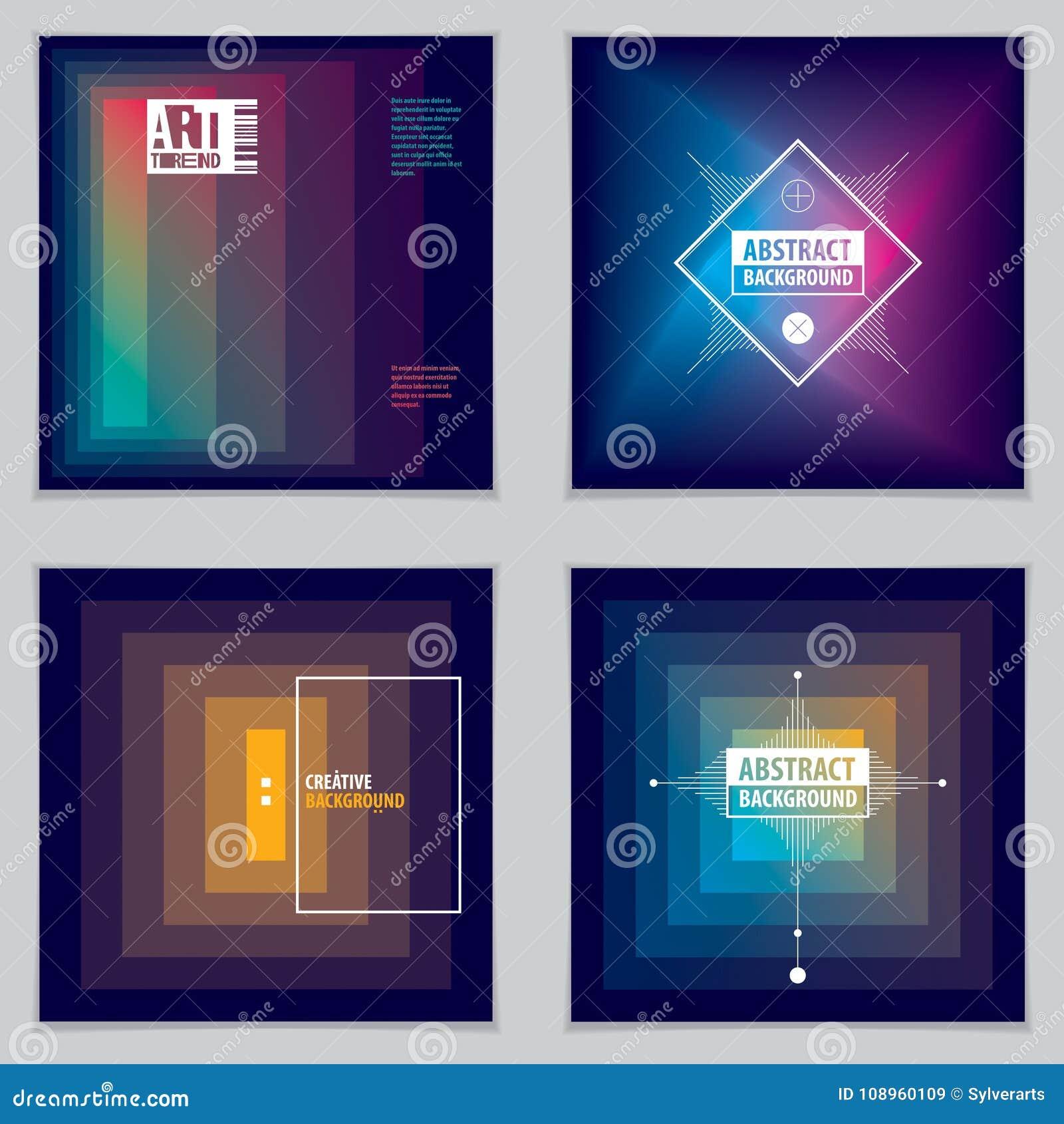 abstract modern vector minimal template flyers vector geometric