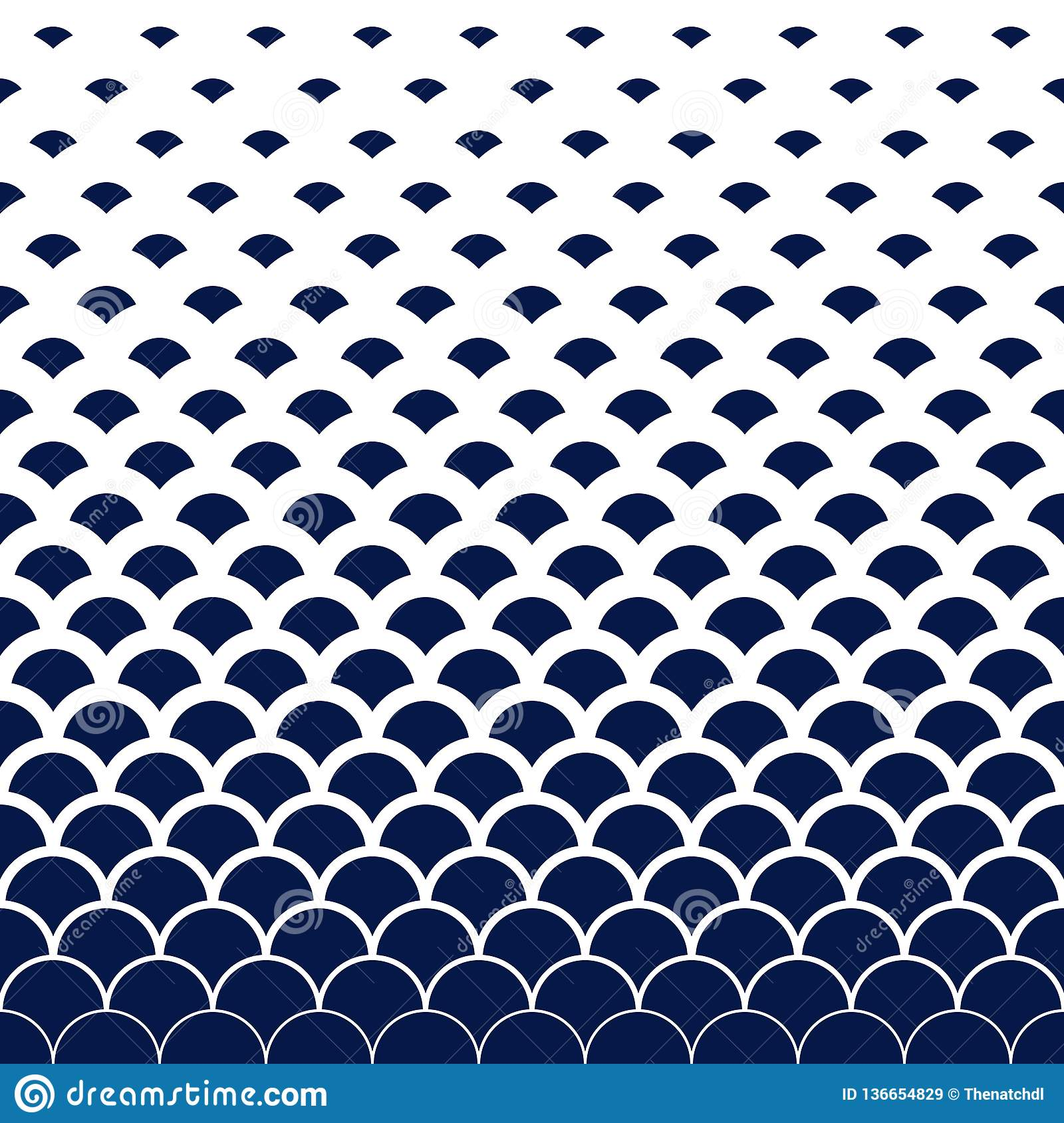 Abstract modern vintage retro blue wave art line pattern background