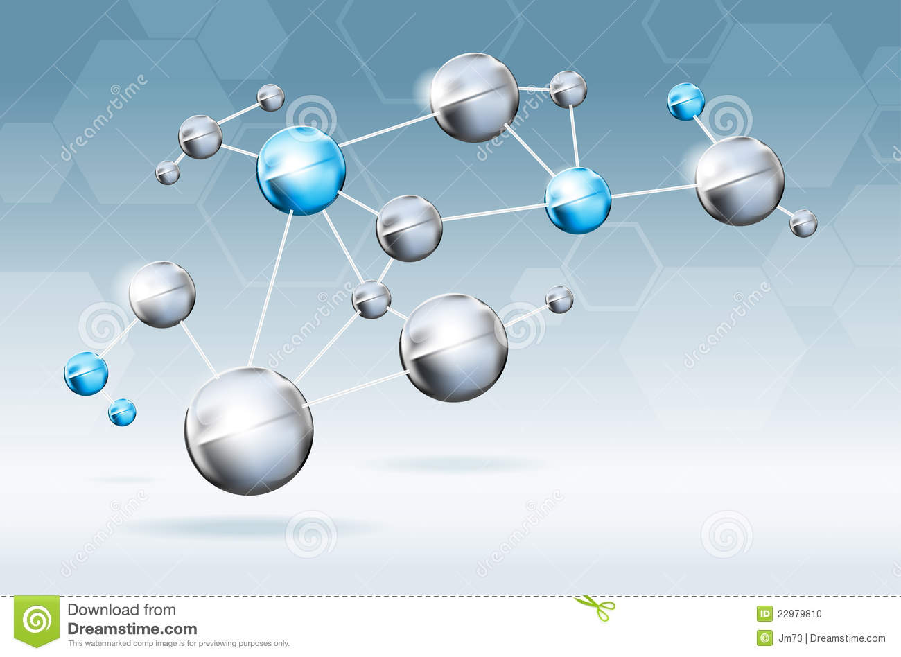 Abstract Molecules Background Stock Photo