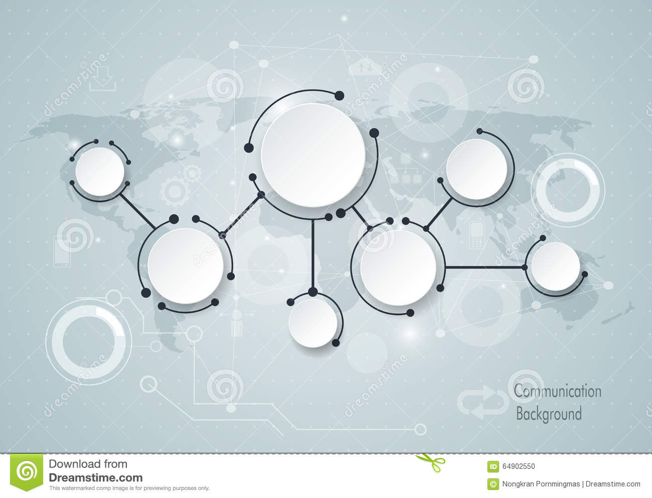 Abstract Technology Communication Concept Cartoon Vector