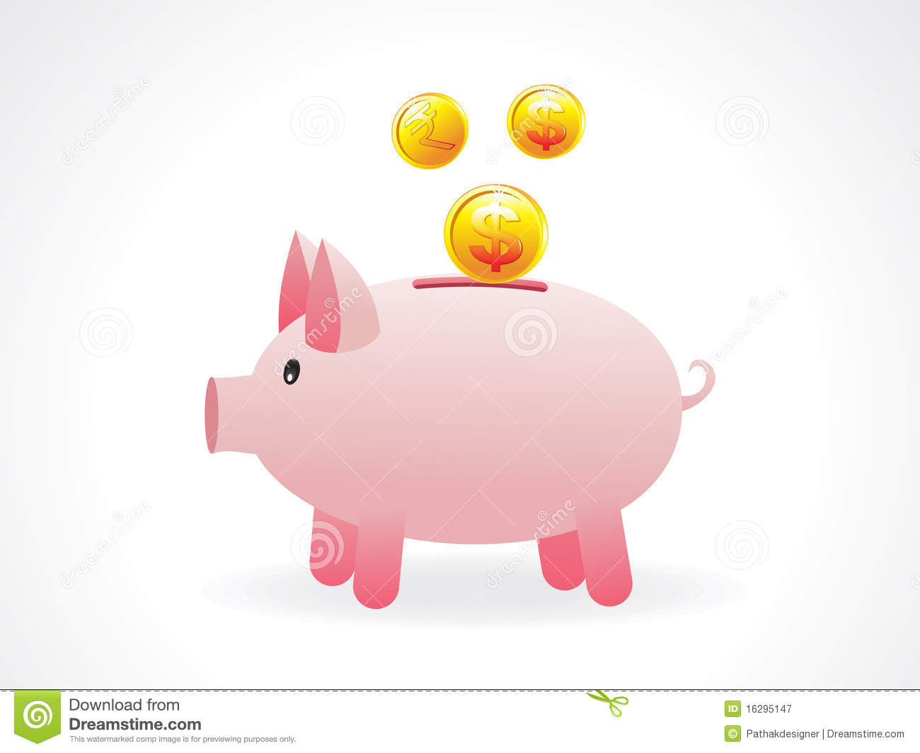 abstract money saving pig icon royalty free stock digital camera clip art free Camcorder Clip Art