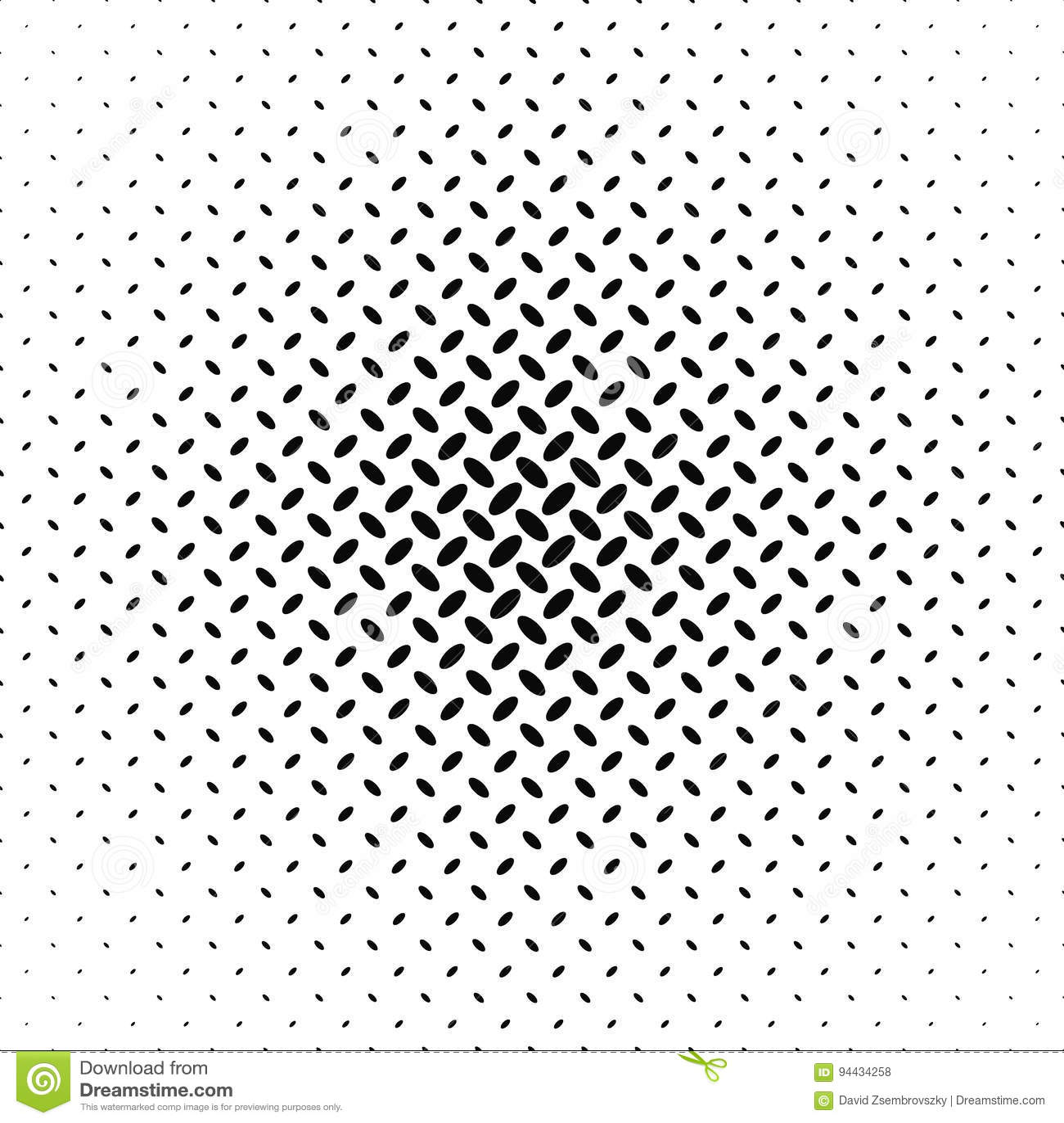 Abstract Monochrome Diagonal Ellipse Pattern Stock Vector ...