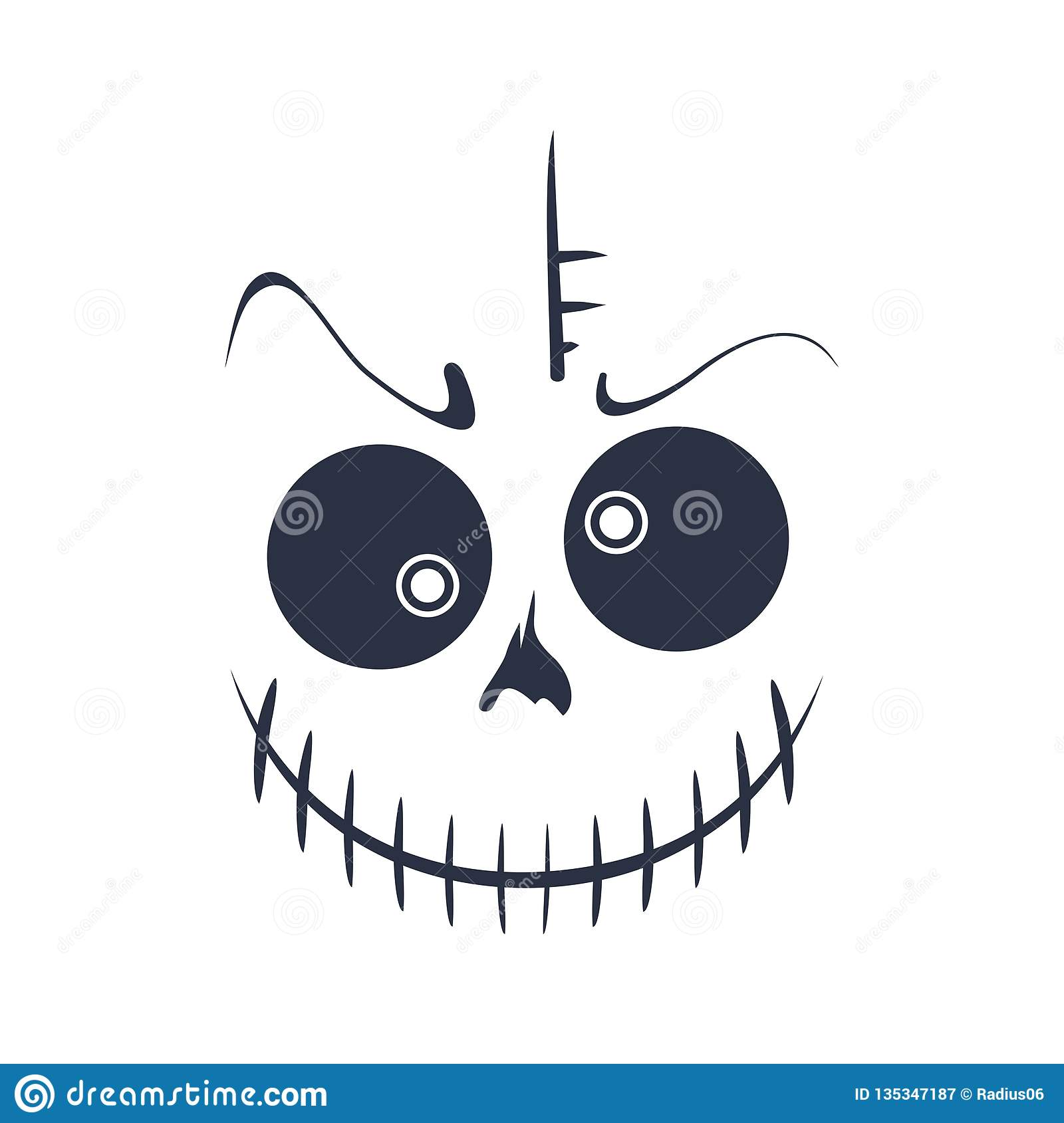 Abstract monster smile stock vector  Illustration of human