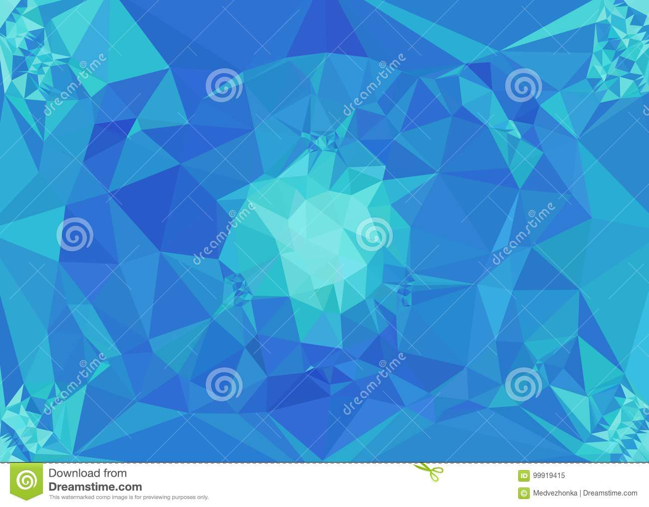 abstract mosaic backdrop in blue color design element for book