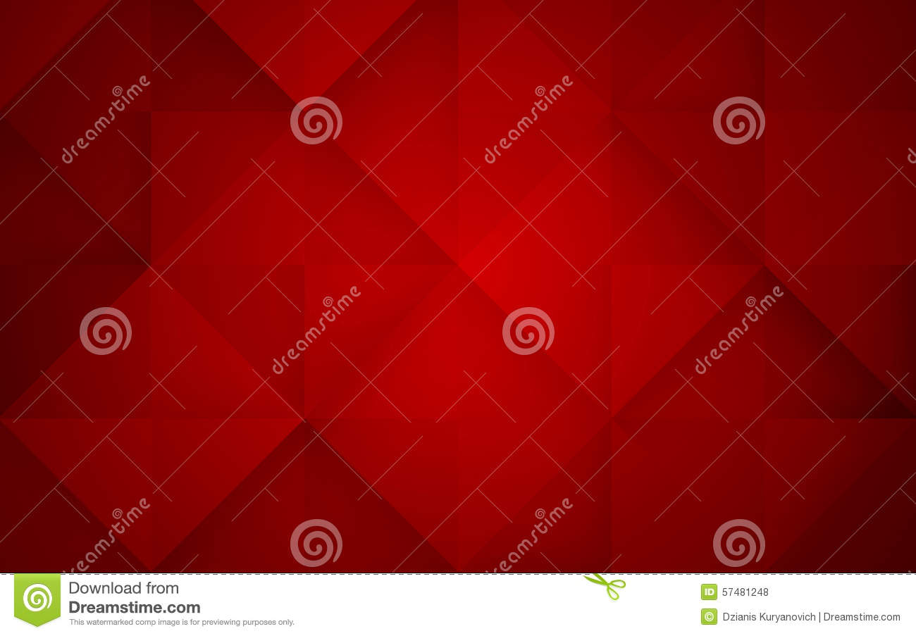 Abstract mosaic red background. Vector Illustration